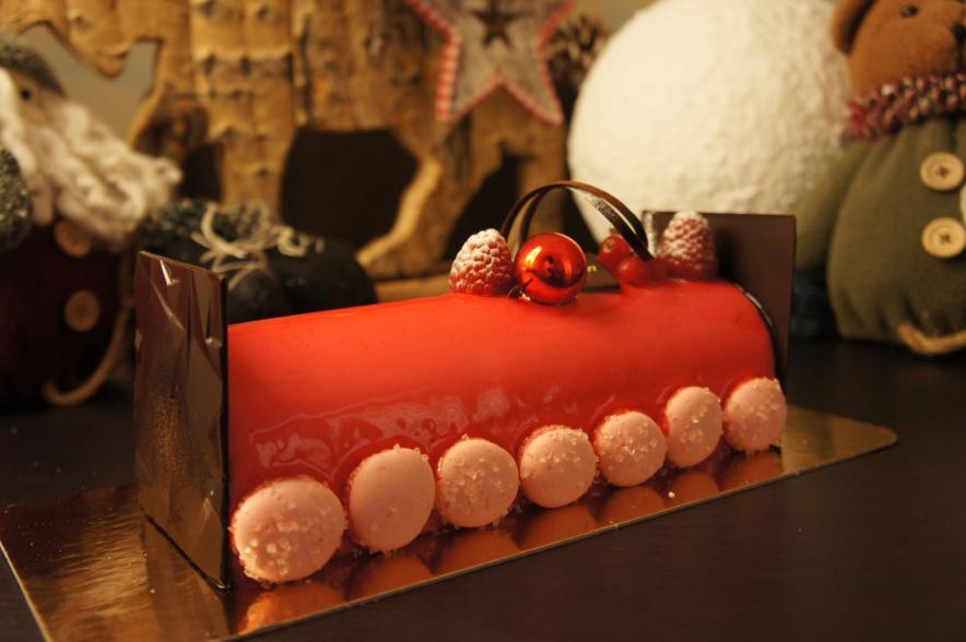 Passion Framboise  ••• Crémeux Framboise, Crémeux Passion, Palet Framboise & Brownie léger au chocolat